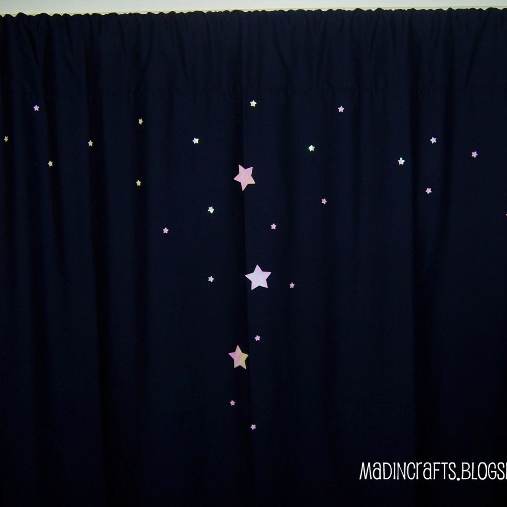 No-Sew Spacey Curtains