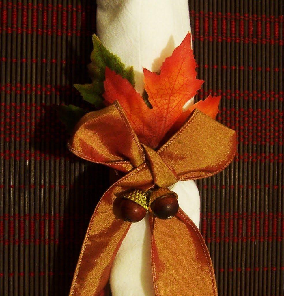 Acorn Napkin Ring Embellishments