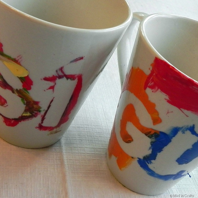 Painted mug gifts mad in crafts for How to paint a mug