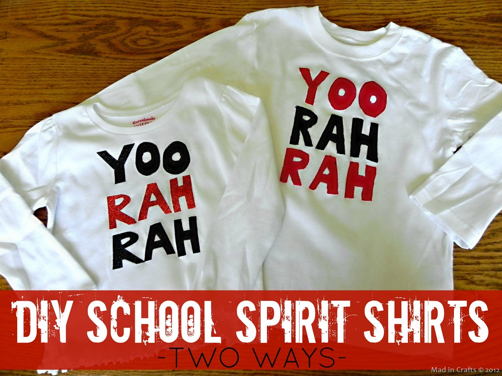 DIY School Spirit Shirts — Two Ways