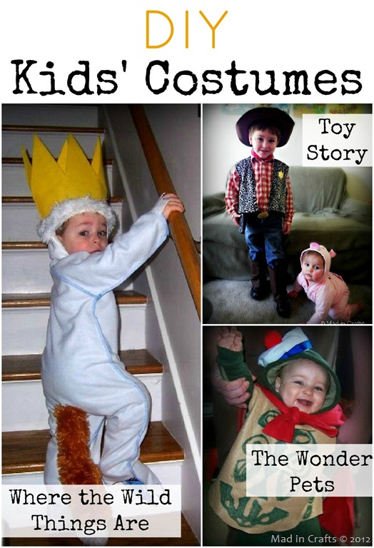 DIY Kids' Costumes: Where the Wild Things Are, Toy Story, and Wonder Pets