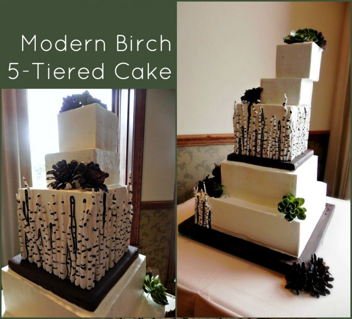 tiered birch cake