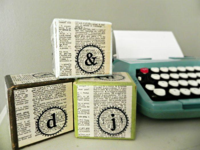 Stamped Typography Blocks for PSA Essentials