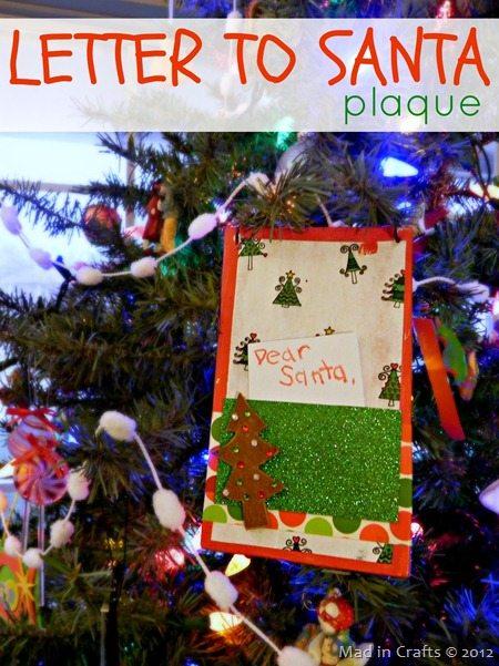 Letter to Santa Plaque