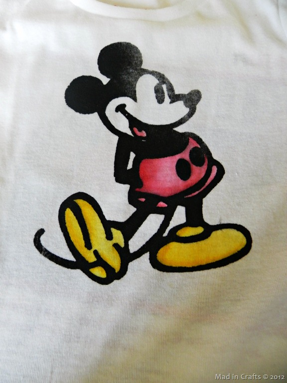 Homemade Multi-Colored Mickey Mouse Shirt