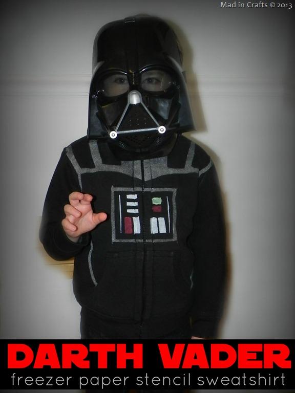 DIY Darth Vader Hoodie