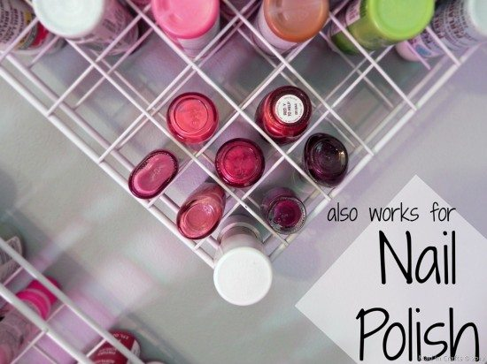Does The Hanging Paint Storage System Hold Nail Polish