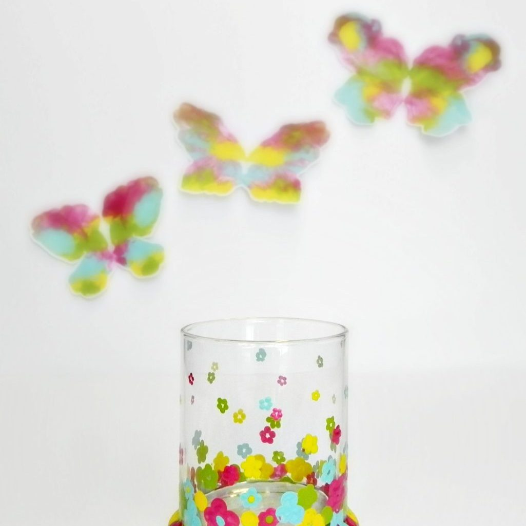 Fashion Designer Inspired Dip Dot Flower Votive