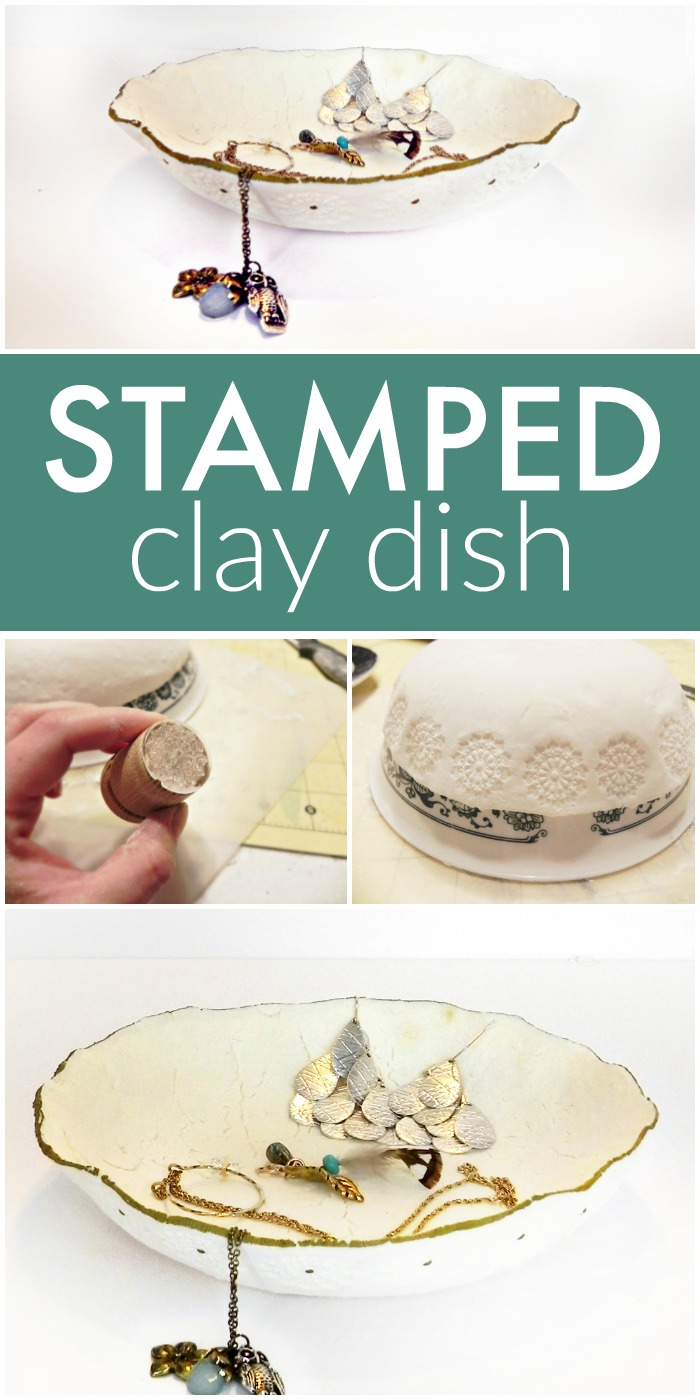 DIY Stamped Clay Dish