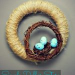 Simple Dollar Store Nest Wreath Craft