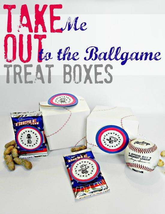 Take Me Out to the Ballgame Take Out Treat Boxes