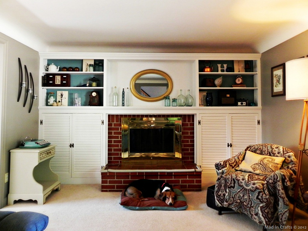 The Mad House: Fireplace and Built-ins