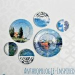 Anthropologie Knock-Off Collage Art Plates