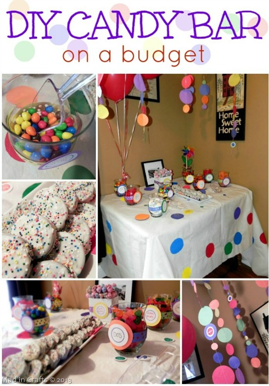 DIY Party Candy Bar On A Budget Mad In Crafts