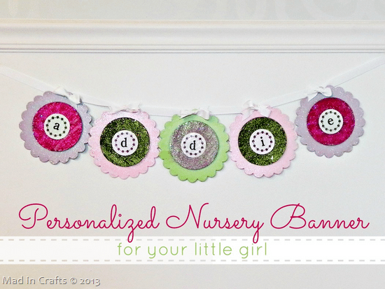 Personalized Nursery Banner for your Little Girl