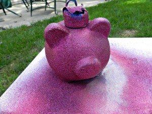 krylon glitter blast piggy bank