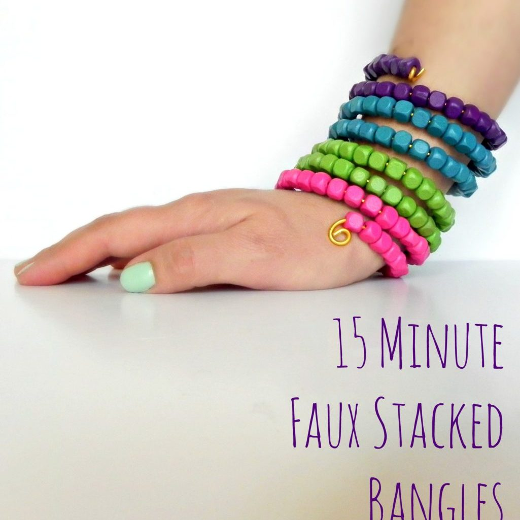 15 Minute Faux Stacked Bangles