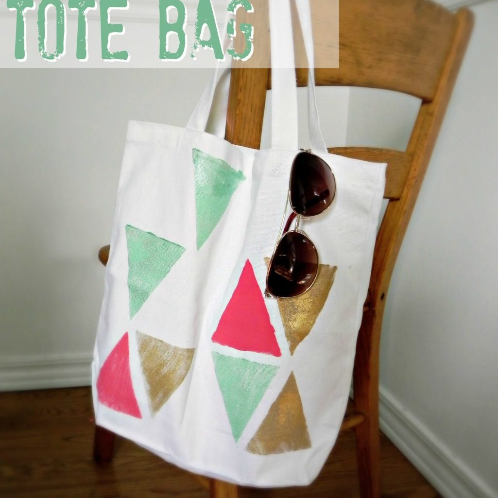 Totes Adorbs: Easy Block Print Tote Bag