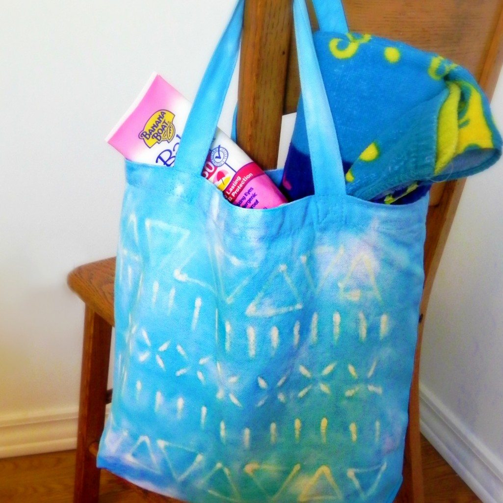 Totes Adorbs Tie Dye And Crayon Batik Bag
