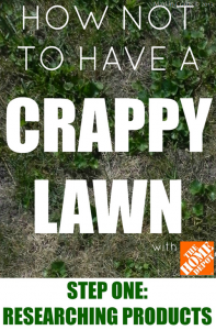 How Not to Have a Crappy Lawn STEP 1