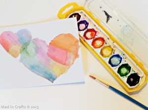 watercolors with stencils