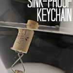 Monogrammed Sink-Proof Keychain