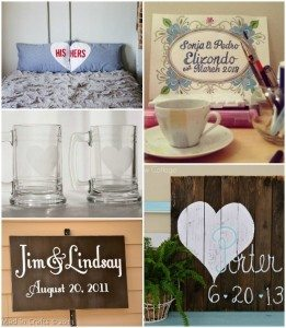 Good Homemade Wedding Gift Ideas : 21. His and Hers PillowcasesA Beautiful Mess