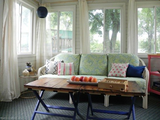 Diy Sunroom Makeover Reveal Mad In Crafts