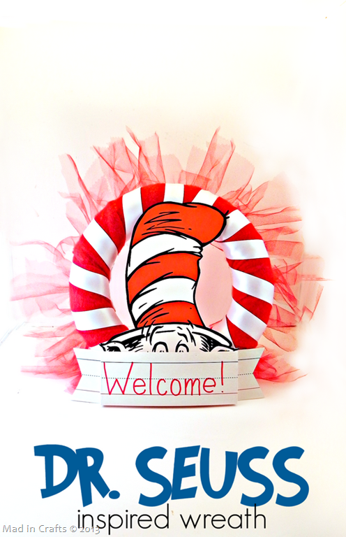 DIY Dr. Seuss Party Wreath