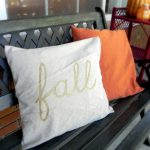 painted fall pillow