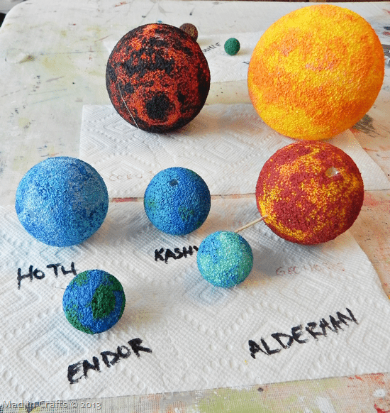 solar system out of foam balls - photo #16