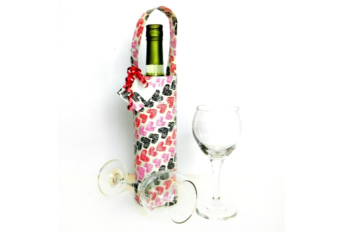 Duck Tape Wine Gift Bag