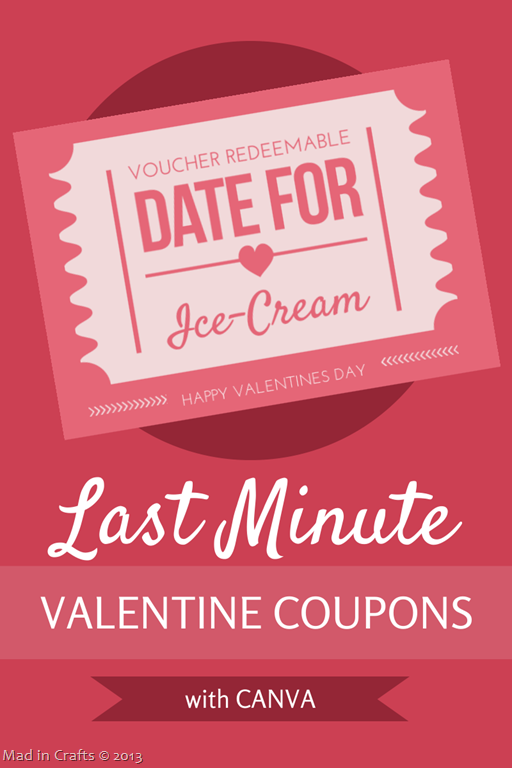 Last Minute Valentine Coupons with Canva