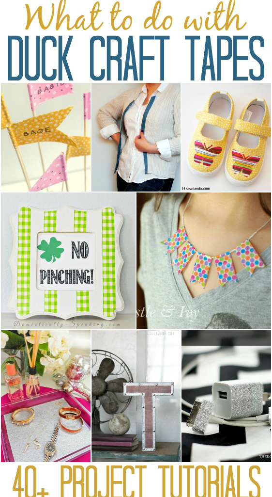 Over 40 Duck Craft Tape Tutorials