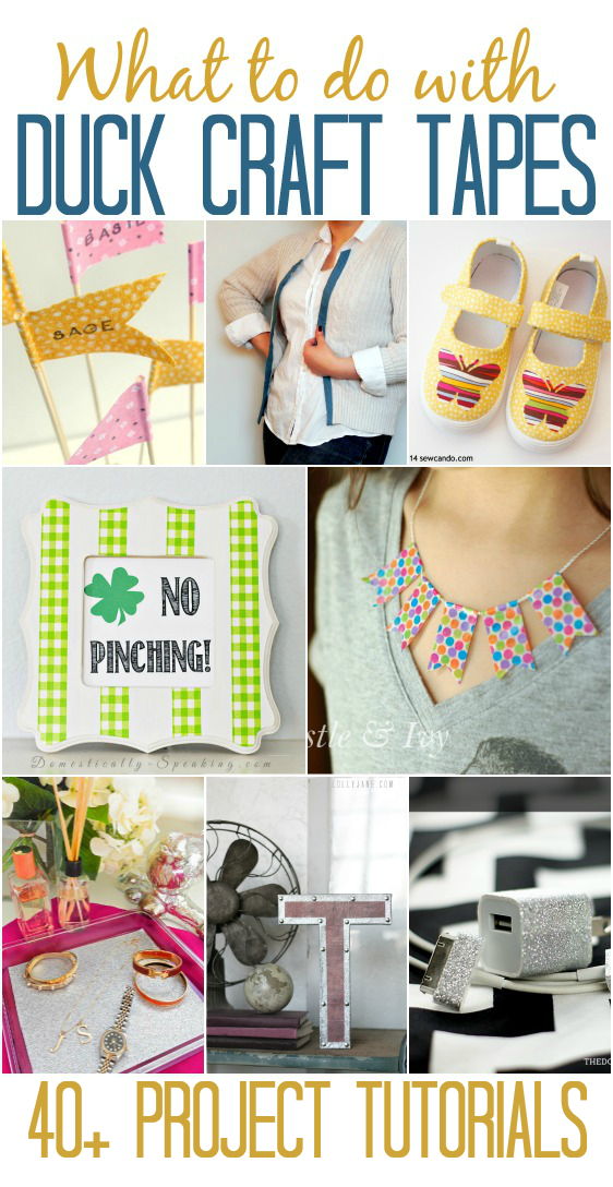 40 Duck Craft Tape Tutorials - Mad in Crafts