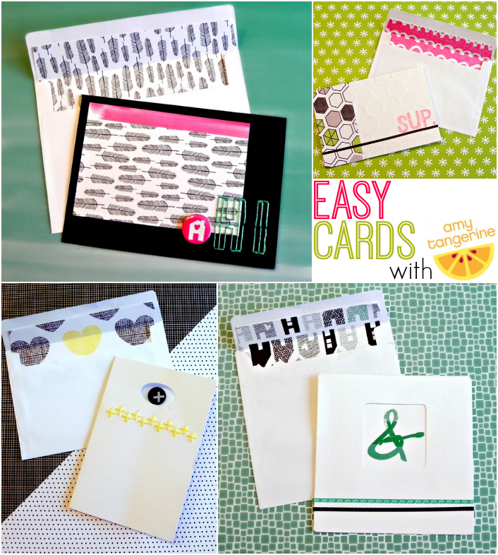 Easy Cards with Amy Tangerine