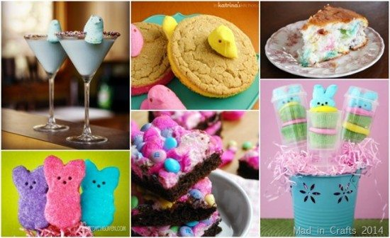 Easy Easter Centerpiece Using Marshmallow Peeps : Over marshmallow peeps crafts and recipes mad in