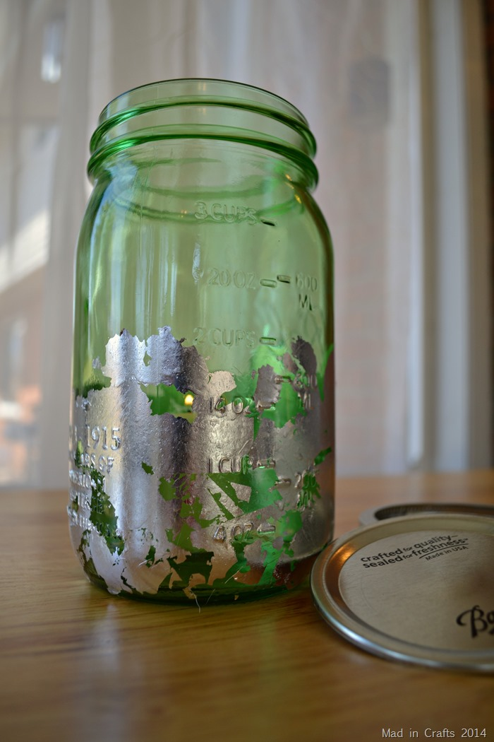 Gilded Mason Jar Candle Holder Tutorial