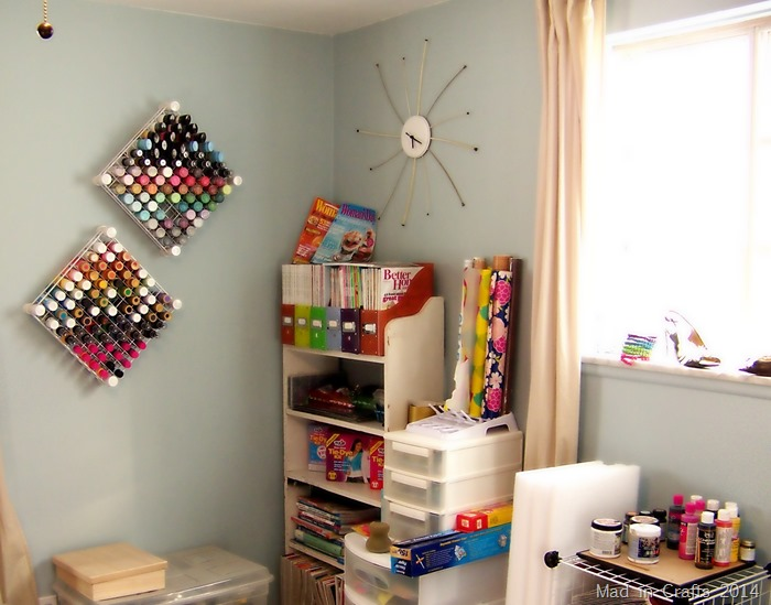 Not Clean Work Room - Mad in Crafts