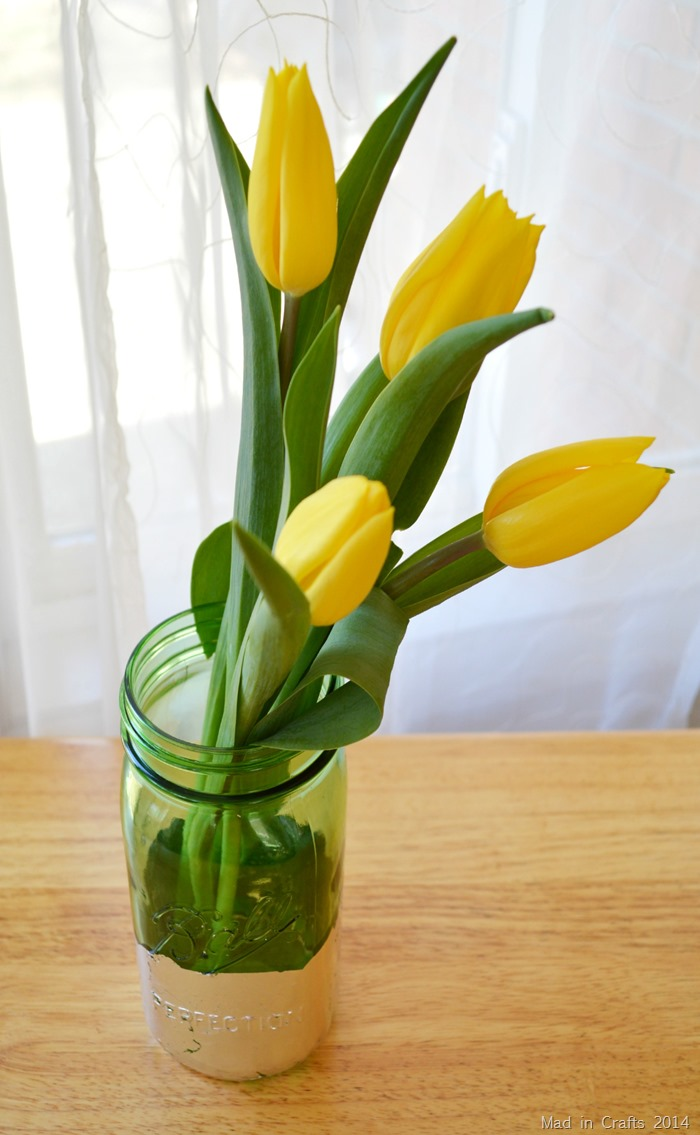 Tulips in Mason Jar