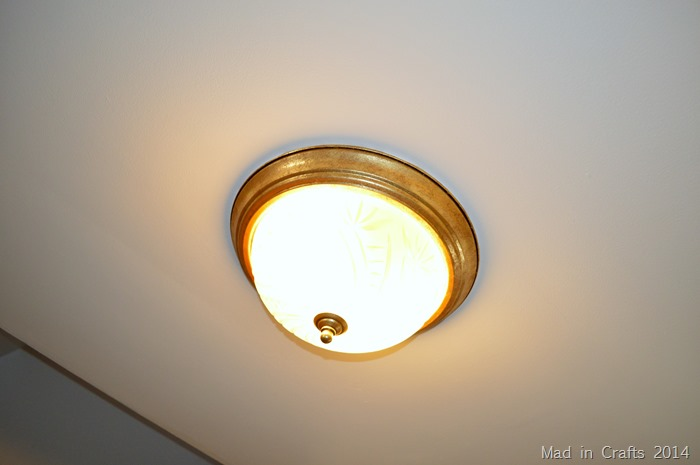 UPGRADING A FLUSH MOUNT LIGHT Mad In Crafts - Basic light fixture