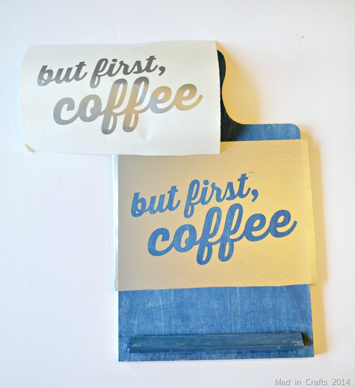But First Coffee Sign vinyl stencil