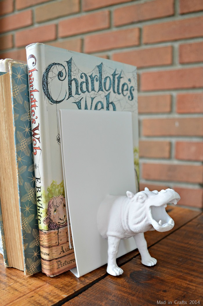 Faux Ceramic Bookends from Dollar Store Toys