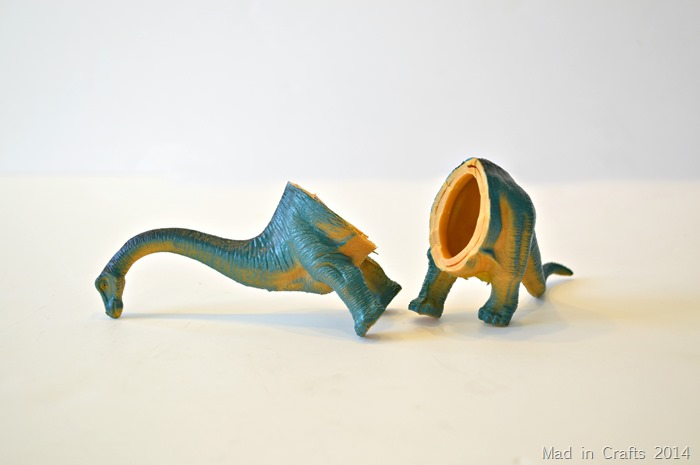 Plastic Animal Bookends bisected dino