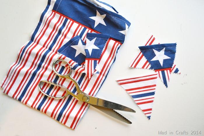 quick patriotic bunting cut pennants