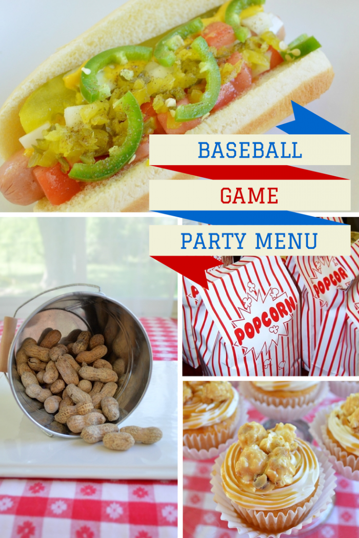Baseball Game Party Menu