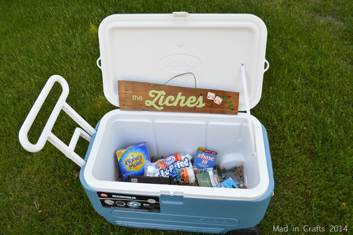 Camping cooler wedding gift