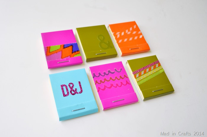 Decorated Matchbook Sticky Notes