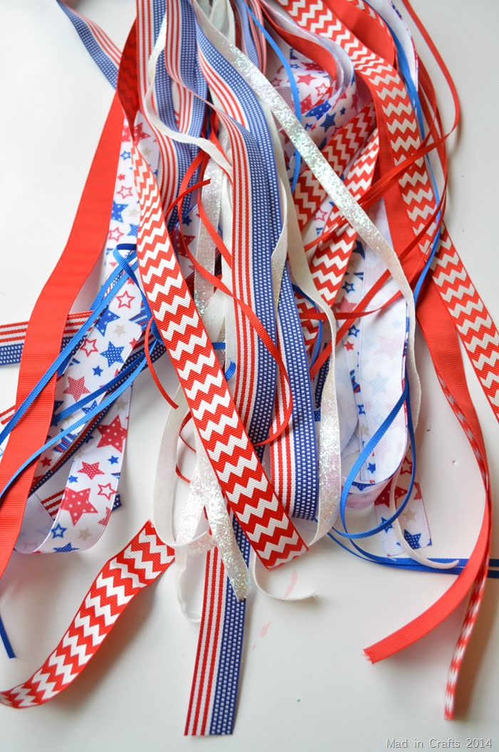 Ribbon Wand Red White and Blue