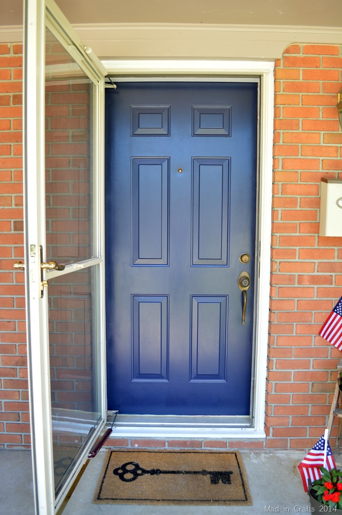 The magic of a painted front door mad in crafts for Outside door paint